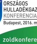 Országos Hulladékgazdálkodási Konferencia – Budapest - 2016. május 18-19.